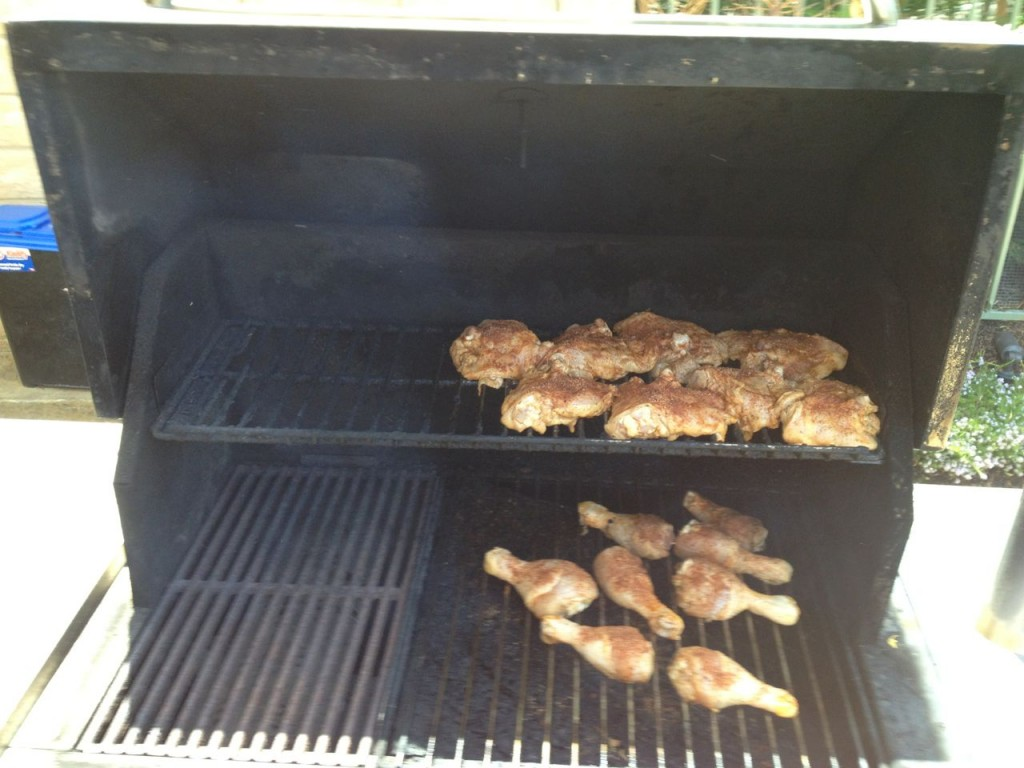 Paleo BBQ Chicken - Top and Bottom Rack